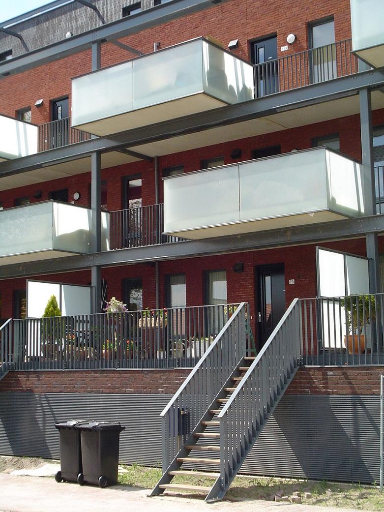 balkonhek glas traphek aluminium roosters